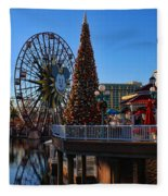 Disney California Adventure Christmas Fleece Blanket