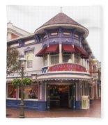 Disney Clothiers Main Street Disneyland 02 Fleece Blanket