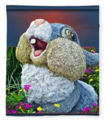Disney Floral 05 Thumper Blue Fleece Blanket