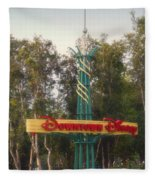 Disneyland Downtown Disney Signage 01 Fleece Blanket