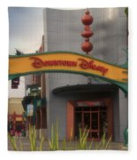 Disneyland Downtown Disney Signage 03 Fleece Blanket