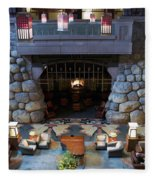 Disneyland Grand Californian Hotel Fireplace 01 Fleece Blanket