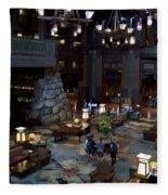 Disneyland Grand Californian Hotel Lobby 01 Fleece Blanket