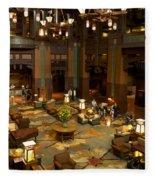 Disneyland Grand Californian Hotel Lobby 04 Fleece Blanket