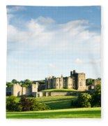 Distant Alnwick Castle Fleece Blanket