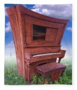 Distorted Upright Piano Fleece Blanket