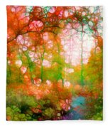 Distortions Of Autumn Fleece Blanket