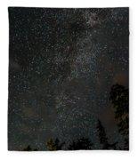 Disturbing The Milky Way Fleece Blanket