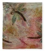 Rustic Dragonflies Pinks Fleece Blanket