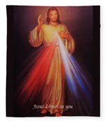 Divine Mercy Big File Fleece Blanket