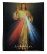 Divine Mercy Jesus Fleece Blanket