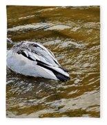 Diving Duck Fleece Blanket