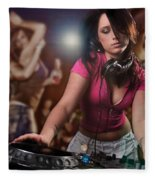 Dj Girl Fleece Blanket