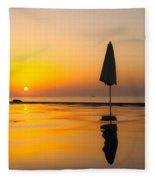 Djibouti Sunset Fleece Blanket