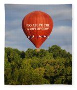 Do All To The Glory Of God Balloon Fleece Blanket