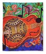 Dobro-slide Guitar-2 Fleece Blanket