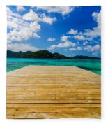 Dock And Beautiful Water Fleece Blanket