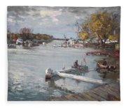 Dock At The Bay North Tonawanda Fleece Blanket