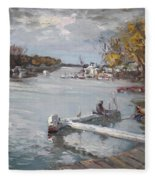 Dock At The Bay North Tonawanda Fleece Blanket