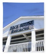 Dock House Restaurant Fleece Blanket