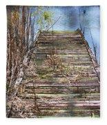 Dock In The Glades Fleece Blanket