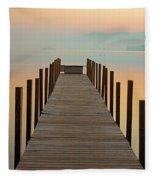 Dock Of The Bay Fleece Blanket