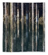 Dock Pilings Fleece Blanket