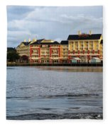Docked At The Boardwalk Walt Disney World Fleece Blanket