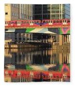 Docklands Railway London Fleece Blanket