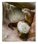 Doctor Otter At The Western North Carolina Nature Center Fleece Blanket