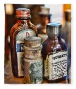 Doctor The Mercurochrome Bottle Fleece Blanket