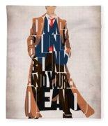 Doctor Who Inspired Tenth Doctor's Typographic Artwork Fleece Blanket