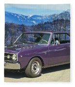Dodge- Mountain Background Fleece Blanket