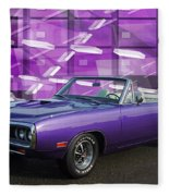 Dodge Rt Purple Abstract Background Fleece Blanket
