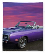 Dodge Rt Purple Sunset Fleece Blanket