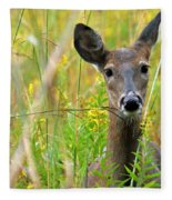 Doe In Morning Dew Fleece Blanket