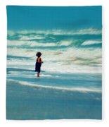 Does The Ocean Ever Stops Fleece Blanket