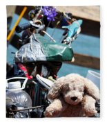 Dog Bike Fleece Blanket