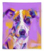 Dog Charlie Fleece Blanket