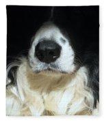 Dog Close Up Fleece Blanket