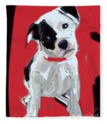 Dog Doggie Red Fleece Blanket