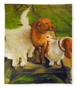 Dog Friends Fleece Blanket