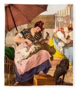Dog Groomers, 1820 Fleece Blanket