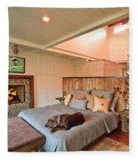 Dog In Luxury Fleece Blanket