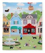 Dog Lovers' Lane Fleece Blanket