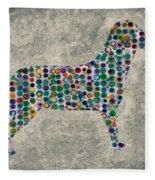 Dog Silhouette Digital Art Fleece Blanket