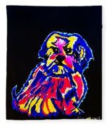 Dog Tibetin Lhasa Apsos  Fleece Blanket