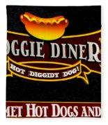 Doggie Diner Fleece Blanket