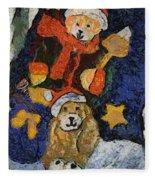 Doggie Xmas Stocking 03 Photo Art Fleece Blanket
