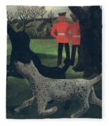 Dogs At Play Fleece Blanket
